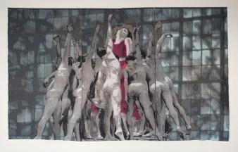 Tissage Jacquard, coton et lin, teinture, VENDUE, Collection Ville de Montréal