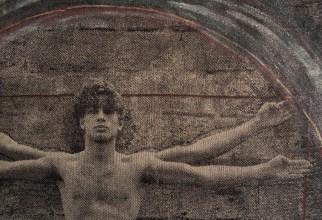 Détail, d'après Da Vinci, 2016, 12 x105 cm