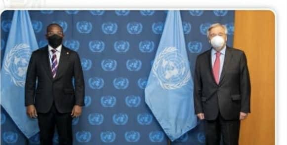Haïti -Diplomatie: « Le premier ministre a.i Claude Joseph et le secrétaire des Nations Unies, Antonio Guterres s'entretiennent »