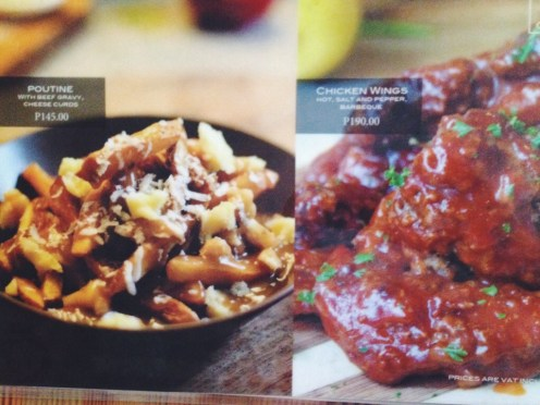 poutine and wings