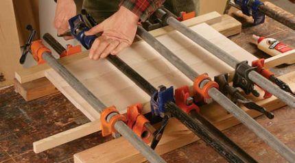 alat clamp kayu perekatan