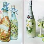 botol gelas decoupage