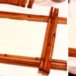cara membuat frame bambu