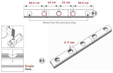 langkah 4 membuat ranjang bambu