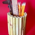 tempat pensil ranting bambu