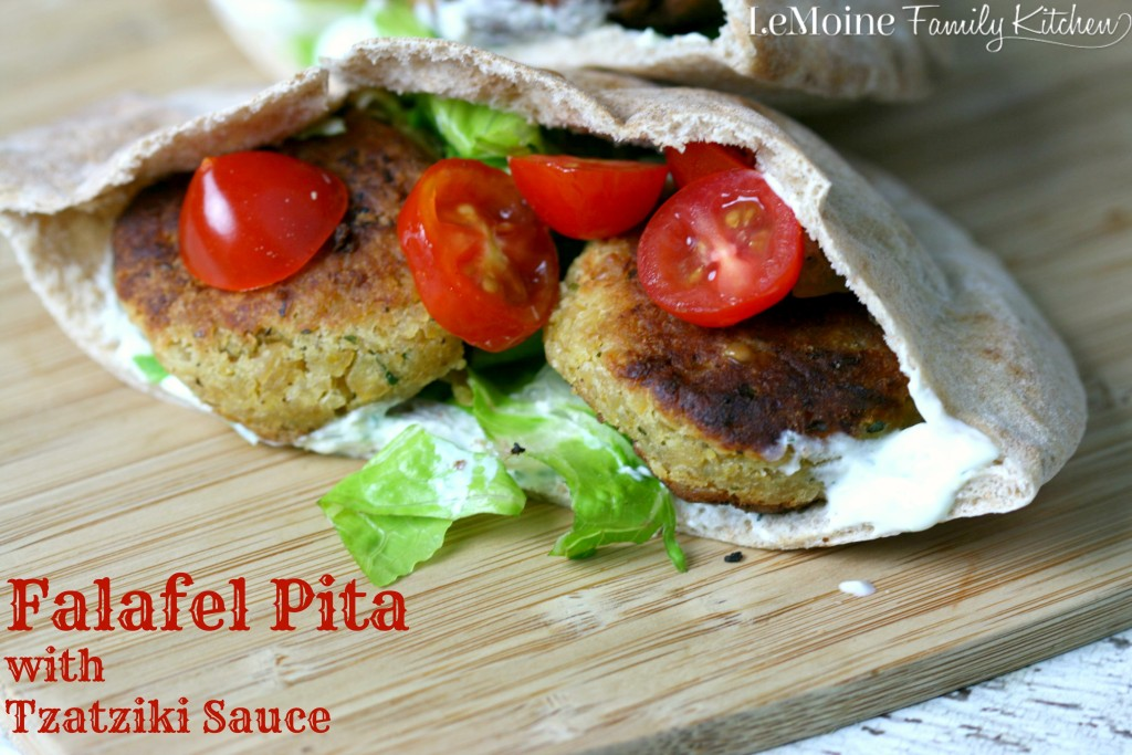 Falafel Pita with Tzatziki Sauce