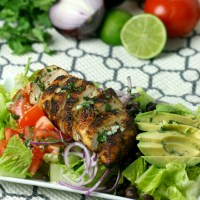 Southwest Chicken Salad with Cilantro Lime Dressing