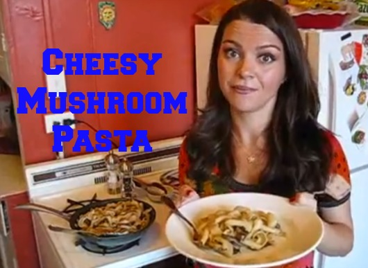 Cooking in Manhattan Cheesy Mushroom Pasta