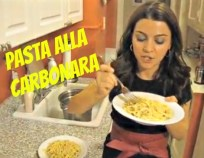 Cooking in Manhattan Carbonara