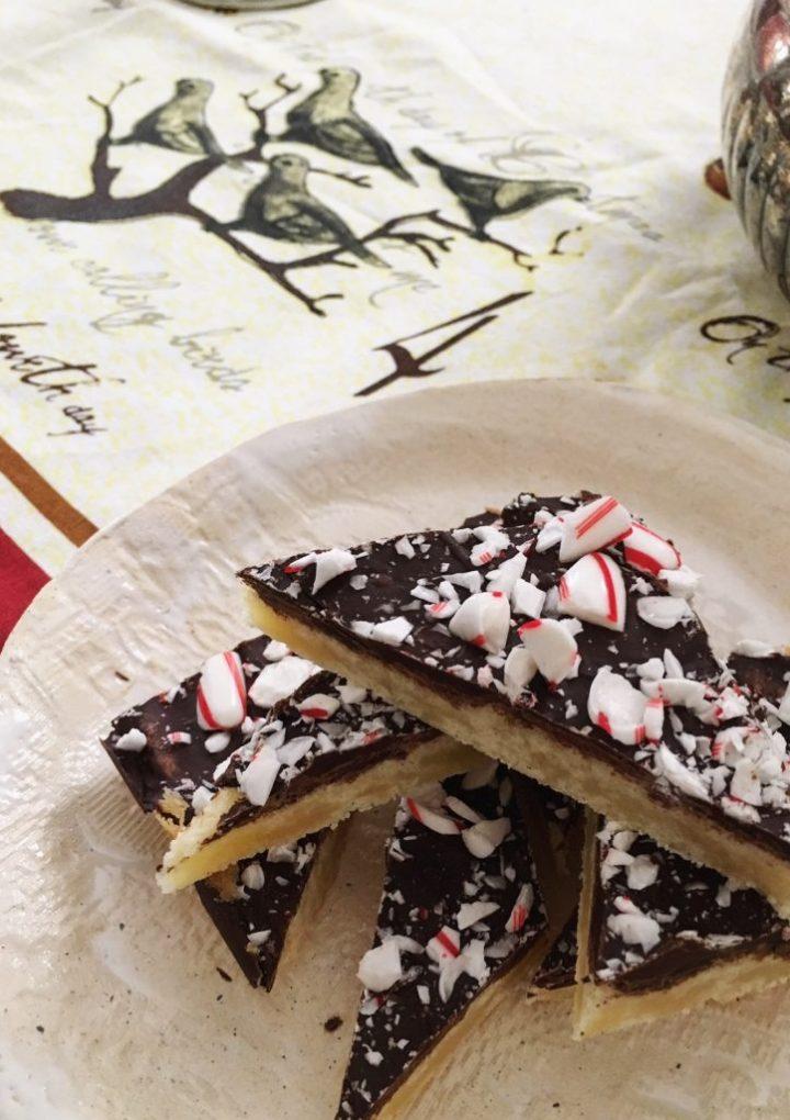 Dark Chocolate Peppermint Shortbread