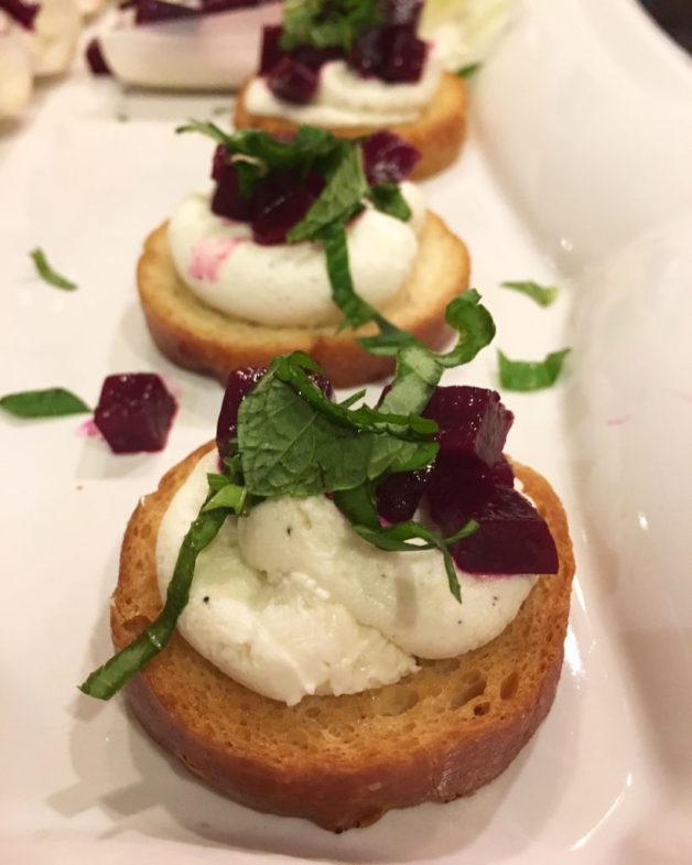 Beet Goat Cheese Toasts