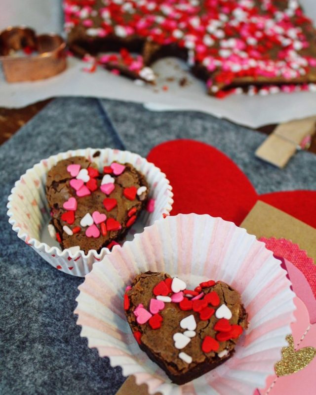 Brownies with Valentines Sprinkles