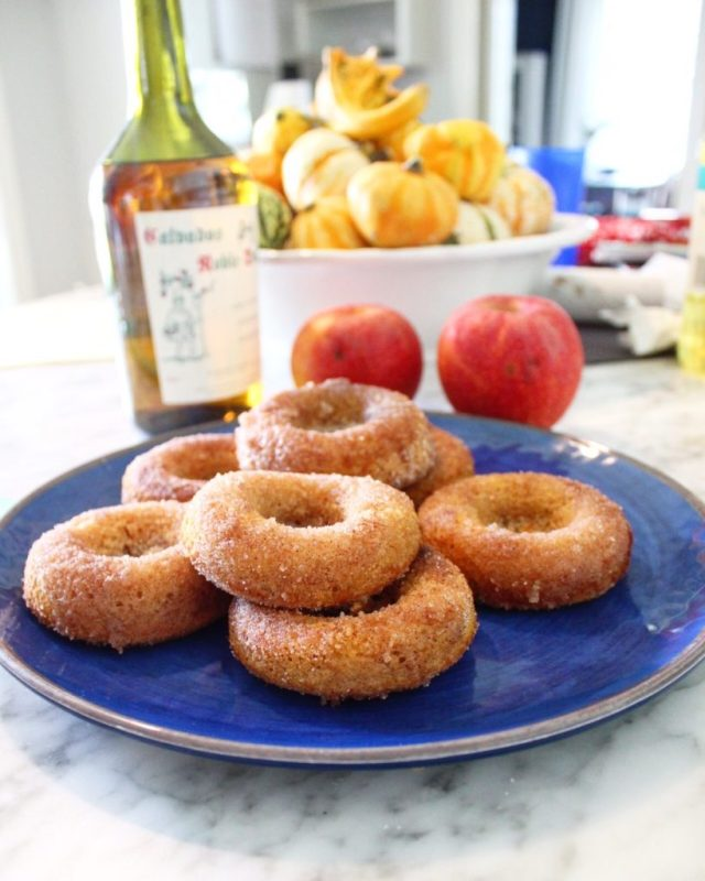 Baked (not fried) Apple Cider doughnuts