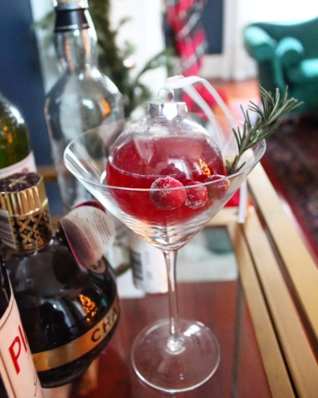 Thyme Cranberry Cocktail