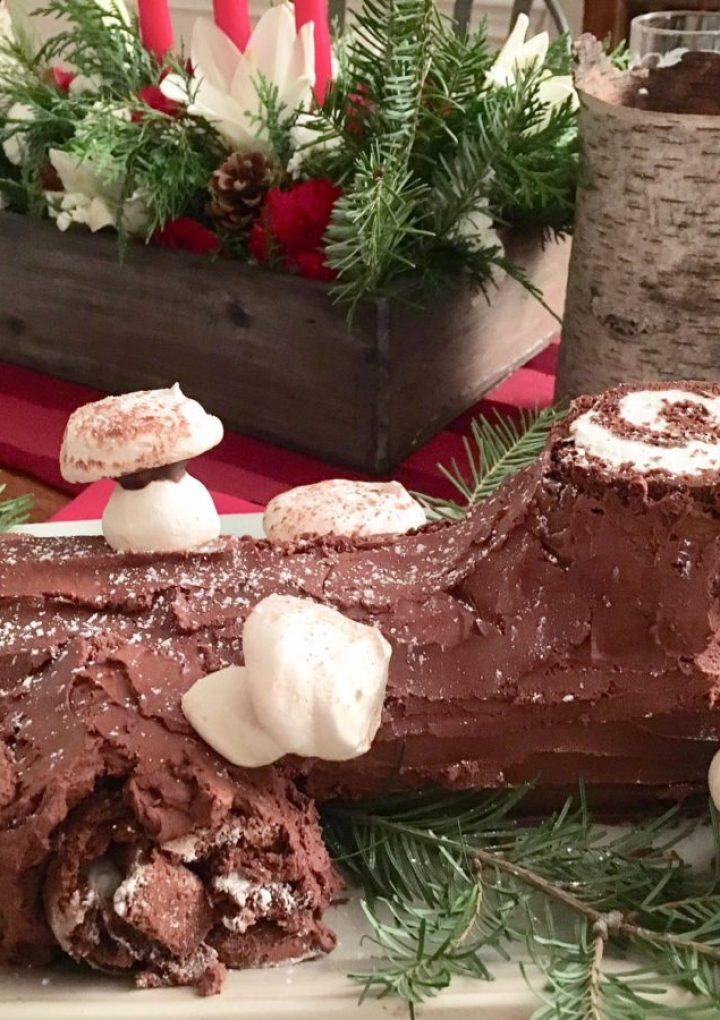 Flourless Bûche de Noël (Yule Log)