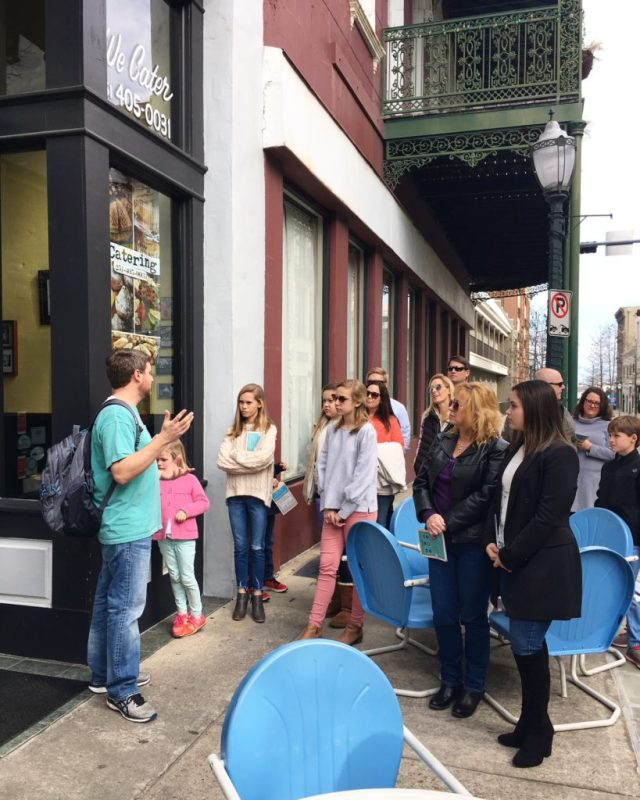 Stop 1 on the Bienville Bites Food Tour