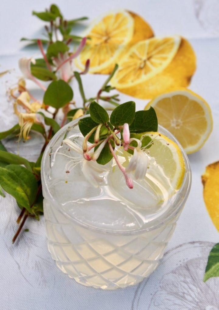 Lemon Honeysuckle Cocktail