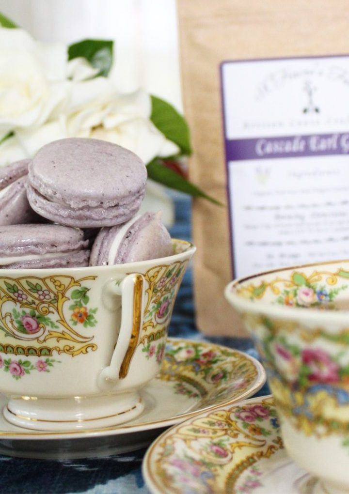 Lavender Earl Grey Macarons with Lemon Buttercream