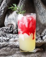 Cocktail with yellow and red