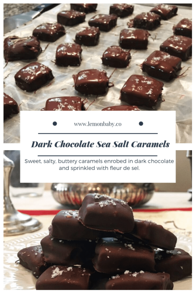 Dark Chocolate Sea Salt Caramels Pinterest Pin