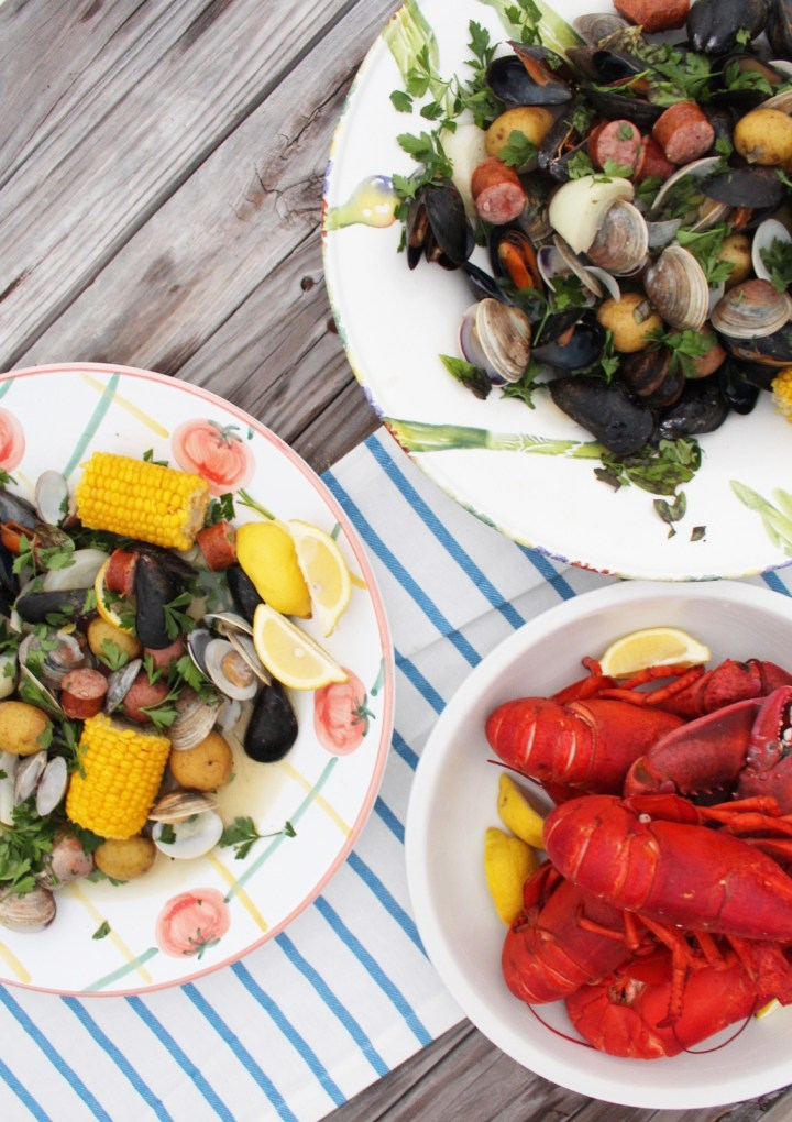 A New England Lobster Clambake At Home
