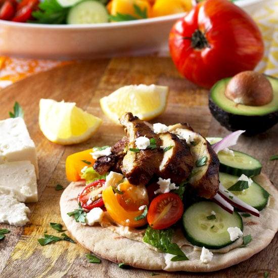 This Chicken Shawarma Wrap is bursting with flavor! With only a few spices you can make the most delicious Chicken Shawarma recipe at home. Wrap it in pita bread with a few fun toppings and you'll have the best chicken wrap ever!