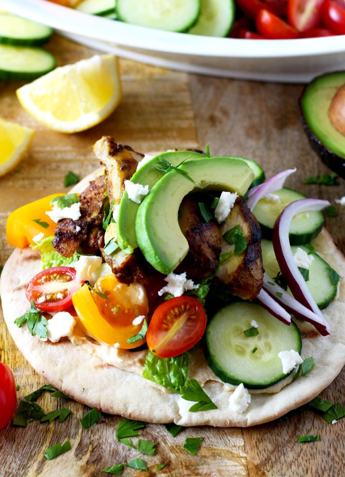 Chicken Shawarma Wrap (Oven Roasted or Grilled) | Lemon Blossoms