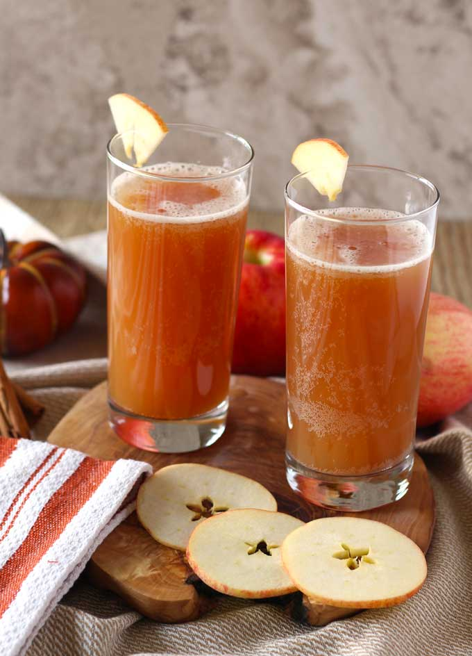Harvest Shandy ~ An Apple and Pumpkin Beer Cocktail