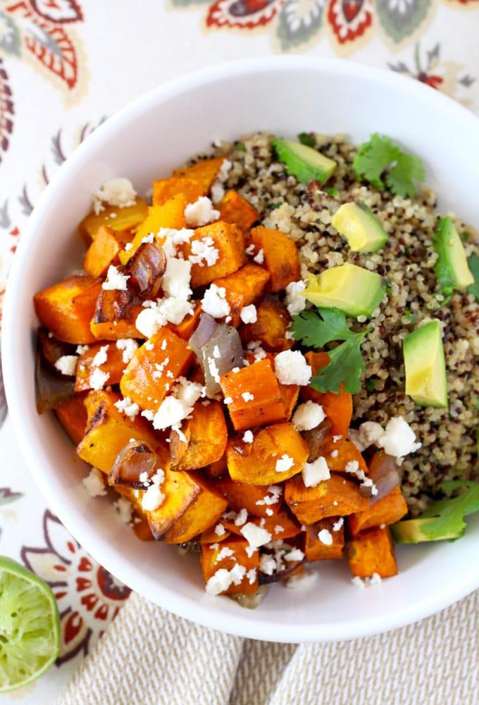 Mexican Buddha Bowl ~ Roasted Vegetables & Cilantro Lime Quinoa