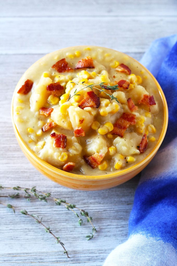 Potato Corn Chowder – Easy Crock Pot Meal