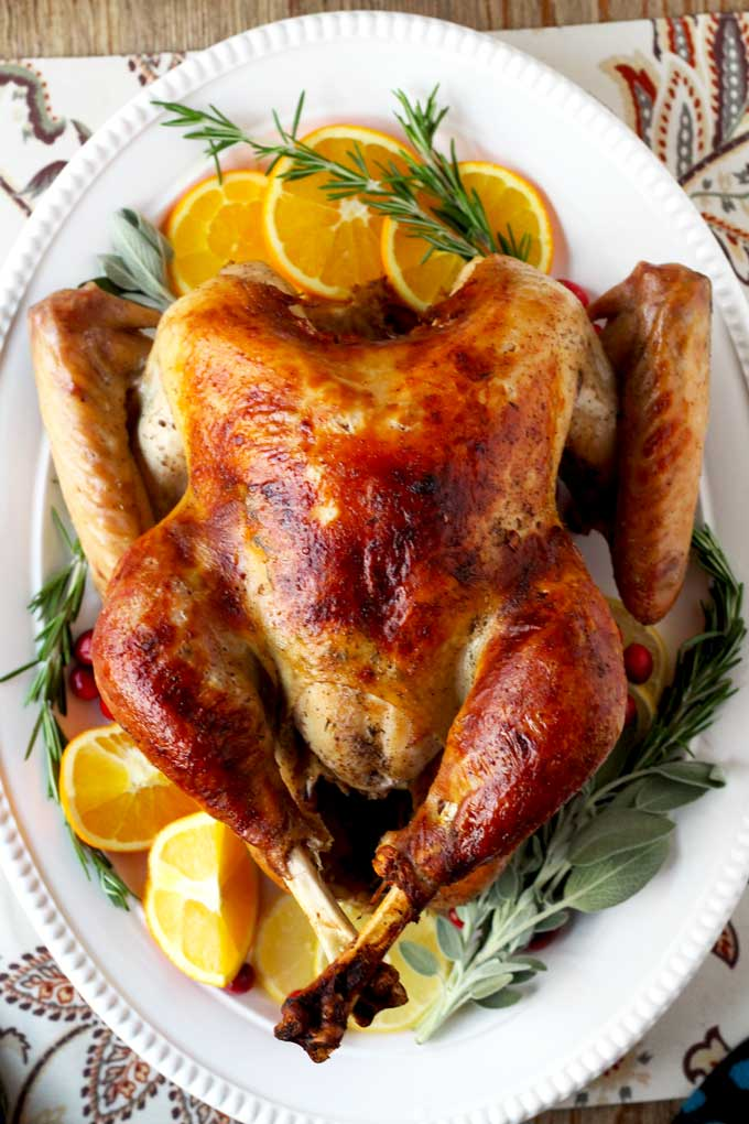 Do you want incredibly moist, delicious, perfectly roasted and golden turkey every time? Look no further! This Brined and Roasted Turkey turnsout perfect every time!
