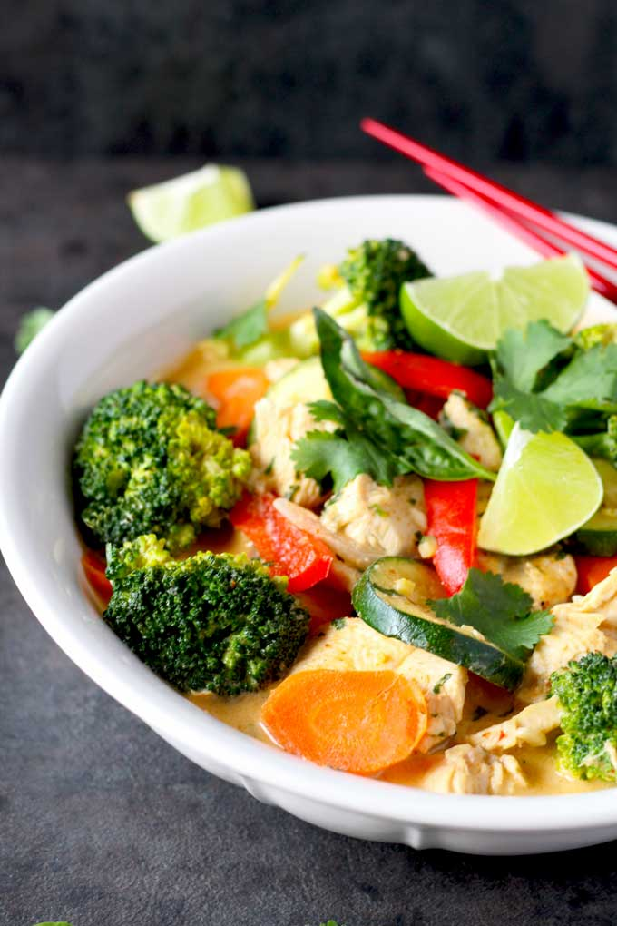 Snap Red Thai Chicken And Vegetable Curry Australian Healthy Food