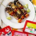 Key West Grilled Chicken and Vegetable Kebabs