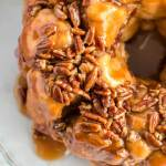 Top view of Monkey Bread with Caramel and Pecans