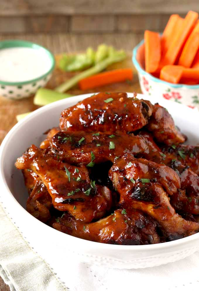 Honey Bbq Slow Cooker Chicken Wings Lemon Blossoms