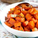 Maple Oven Roasted Sweet Potatoes