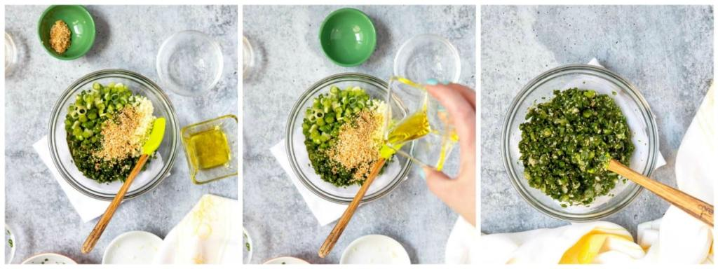 Step by step photos on how to make chimichurri.