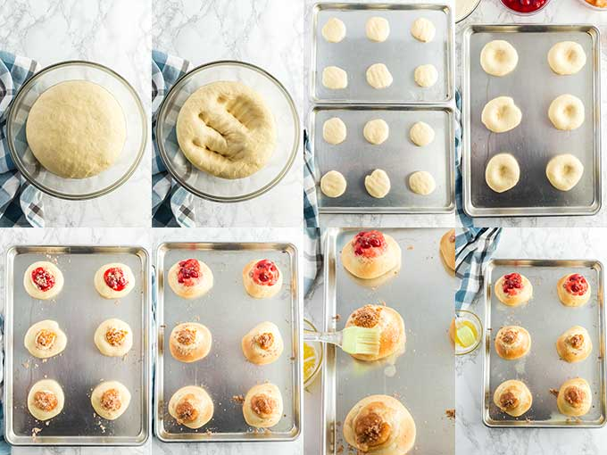 Step by step photos on how to make kolaches