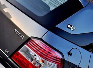 carro com Wi-Fi