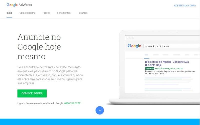 Links Patrocinados Google Adwords