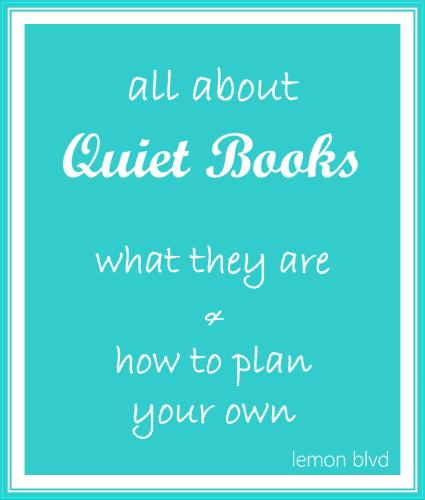 All About Quiet Books - lemon blvd