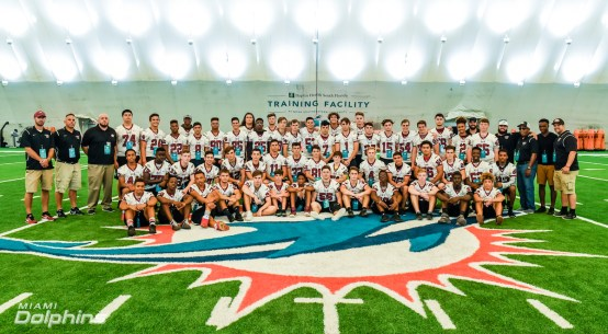 Miami Dolphins Host Marjory Stoneman Douglas High School at OTA Practice