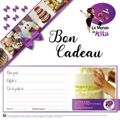 Bon cadeau Atelier Cake design Cupcake Monde de Kita