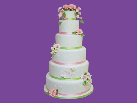 Wedding cake romantique