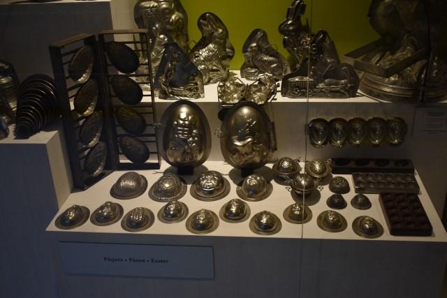 Exposition de moules dans le musée du chocolat de Bruxelles