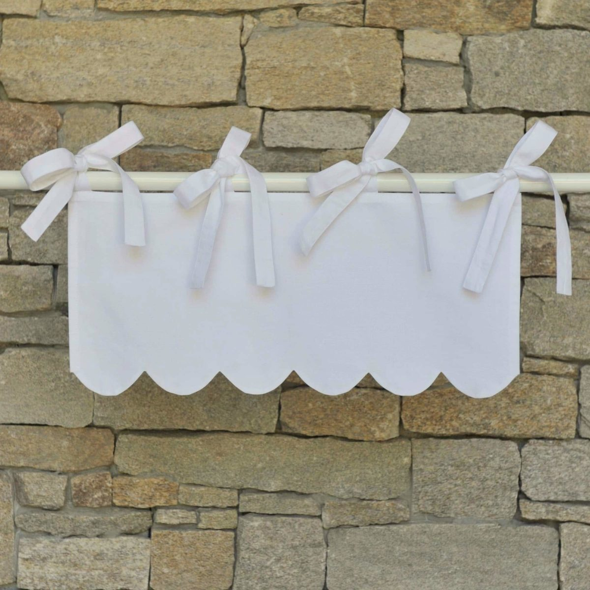 cantonniere blanche modele campagne