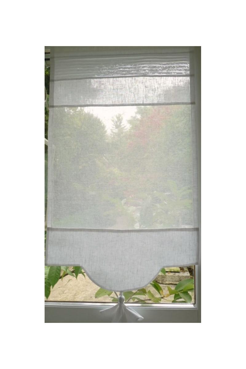 brise bise sur mesure lin blanc modele mimosa