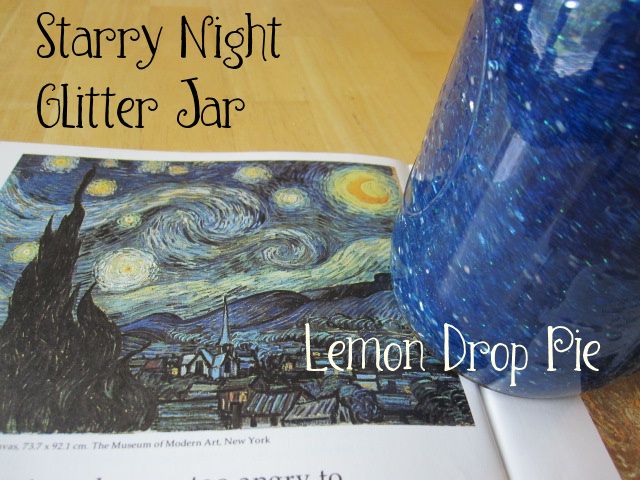 Starry Night Glitter Jar