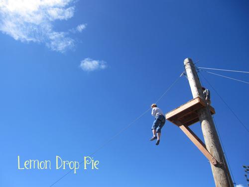 On the zipline