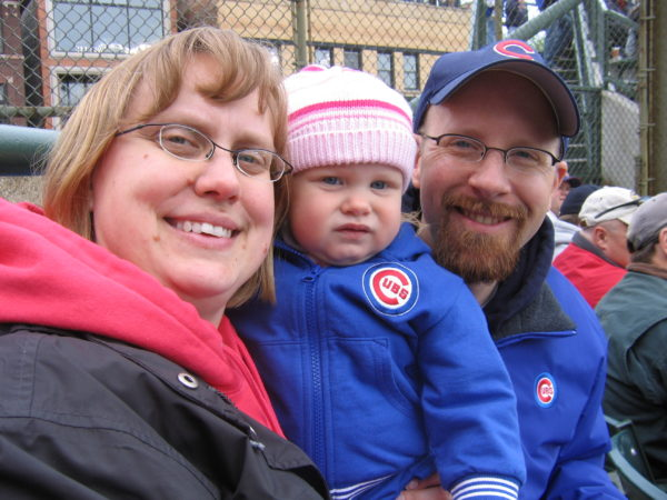 Lily's first Cubs game
